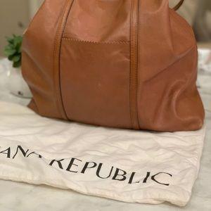Banana Republic Brown XL Leather Shoulder Bag